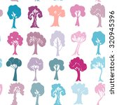 seamless pattern set of violet... | Shutterstock .eps vector #320945396