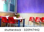 kindergarten classroom with... | Shutterstock . vector #320947442