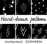 set of hand drawn abstract... | Shutterstock .eps vector #320949836