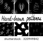 set of ink hand drawn abstract... | Shutterstock .eps vector #320949842