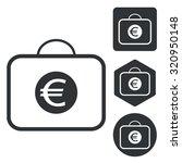 euro bag icon set  monochrome ...