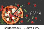 illustration of pizza and the... | Shutterstock .eps vector #320951192