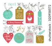 christmas gift tags design with ... | Shutterstock .eps vector #320958572