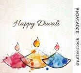 happy diwali festive background ... | Shutterstock .eps vector #320959046