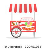 ice cream cart isolated in... | Shutterstock .eps vector #320961086