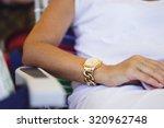 women's fashionable golden... | Shutterstock . vector #320962748
