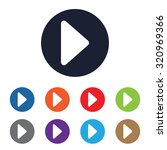 play video icon for web and... | Shutterstock .eps vector #320969366