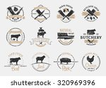 set of retro styled butchery... | Shutterstock .eps vector #320969396