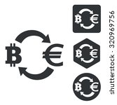 bitcoin euro exchange icon set  ...