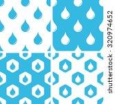 water drop patterns set  simple ...