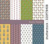 set of cute bunny patterns | Shutterstock .eps vector #320978408