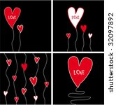 collection funny love cards | Shutterstock .eps vector #32097892