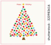 holiday ornament tree | Shutterstock . vector #320983616