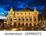 night front view of the opera... | Shutterstock . vector #320984372