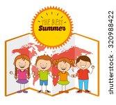 summer vacations design  vector ... | Shutterstock .eps vector #320988422