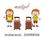 summer vacations design  vector ... | Shutterstock .eps vector #320988506
