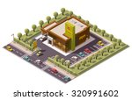vector isometric icon or... | Shutterstock .eps vector #320991602