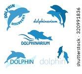 vector set of dolphinarium... | Shutterstock .eps vector #320991836