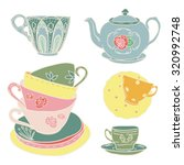 Vector Set With Teapots And...