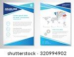 vector brochure flyer design... | Shutterstock .eps vector #320994902
