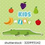 kids menu design  vector... | Shutterstock .eps vector #320995142