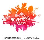 autumn foliage abstract vector... | Shutterstock .eps vector #320997662
