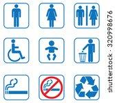 toilet restroom icons | Shutterstock .eps vector #320998676