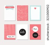set of creative cards design.... | Shutterstock .eps vector #321000902