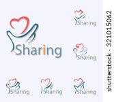 sharing logo | Shutterstock .eps vector #321015062