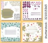 creative artistic cards. hand... | Shutterstock .eps vector #321015365