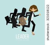 leader woman illustration over... | Shutterstock .eps vector #321018122