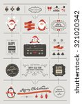 set of christmas ornaments and... | Shutterstock .eps vector #321020342