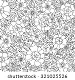 forest flowers. vector coloring ... | Shutterstock .eps vector #321025526
