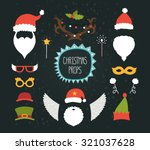 christmas decoration collection ... | Shutterstock .eps vector #321037628