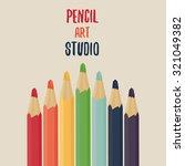 color pencils set. pencil art... | Shutterstock .eps vector #321049382