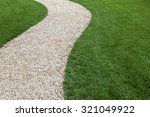 Curved Garden Path With Fresh...