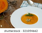 Squash Soup In A Plate With...