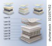 vector set mattress section on... | Shutterstock .eps vector #321057452