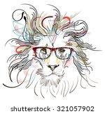 lion illustration | Shutterstock .eps vector #321057902