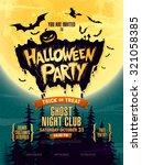 Halloween Party. Vector...