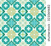 colorful moroccan tiles...   Shutterstock .eps vector #321064682