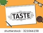 vector taste concept template   Shutterstock .eps vector #321066158