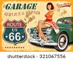vintage garage retro poster | Shutterstock .eps vector #321067556