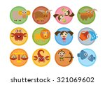cartoon zodiac signs set  ... | Shutterstock .eps vector #321069602