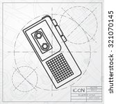 vector classic blueprint of... | Shutterstock .eps vector #321070145