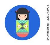 vector illustration of round... | Shutterstock .eps vector #321073976