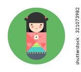 vector illustration of round... | Shutterstock .eps vector #321073982