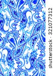 seamless amazing paisley... | Shutterstock . vector #321077312