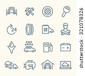 car service icon set | Shutterstock .eps vector #321078326