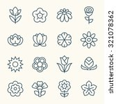 flower icon set | Shutterstock .eps vector #321078362